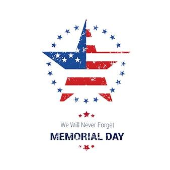 Diseño de estrella para el memorial day