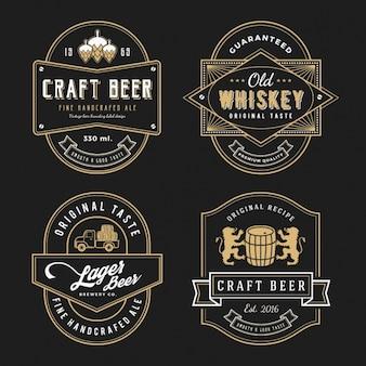 Diseño de etiqueta elegante
