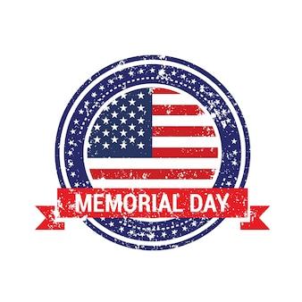 Diseño de etiqueta para el memorial day