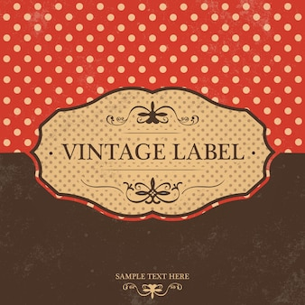 Diseño de etiqueta vintage