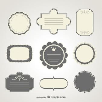 Formatos fotos y vectores gratis for Diseno de etiquetas