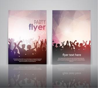 Diseño de flyer de fiesta