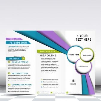 Diseño de flyer de negocios multicolor
