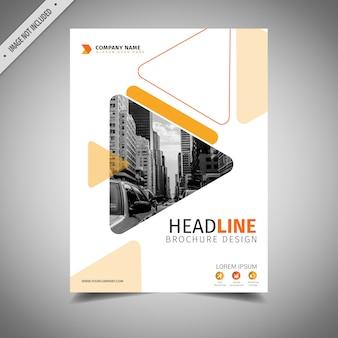 Diseño de folleto de negocios naranja y blanco