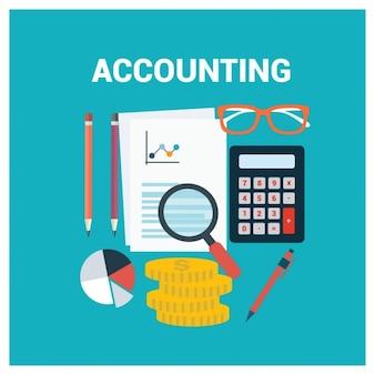 Diseño de fondo a color de contabilidad