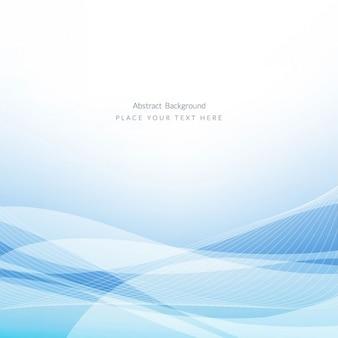 Diseño de fondo azul ondulado