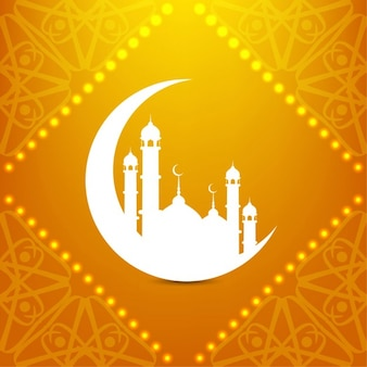 diseño de fondo brillante Islámica
