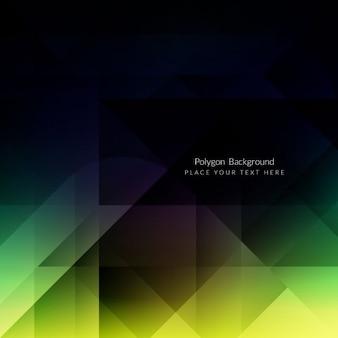 Diseño de fondo brillante poligonal