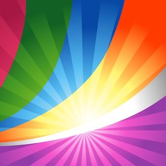 Diseño de fondo colorido brilloso