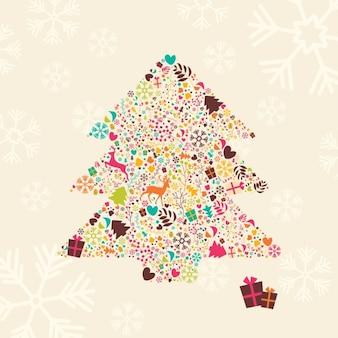 Diseño de fondo de árbol de navidad