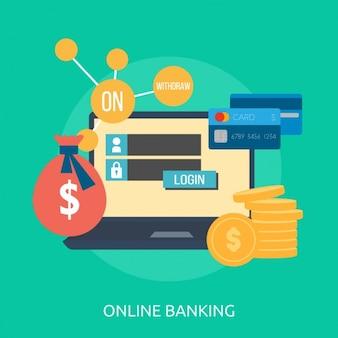 Diseño de fondo de banca online
