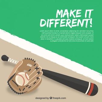 Diseño de fondo de béisbol