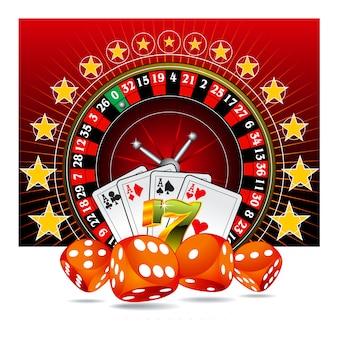 Diseño de fondo de casino