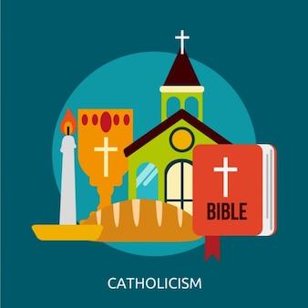 Diseño de fondo de catolicismo