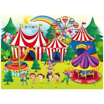 Diseño de fondo de circo
