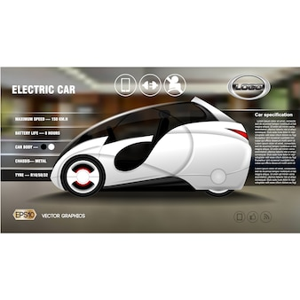 Diseño de fondo de coche moderno