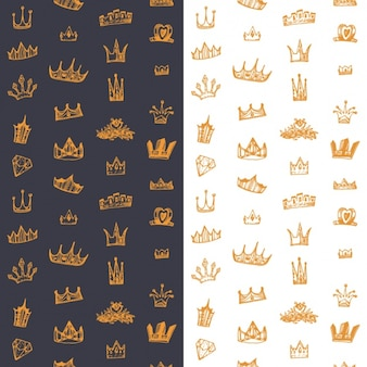 Diseño de fondo de coronas