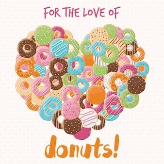 Diseño de fondo de donuts