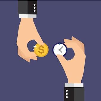 Diseño de fondo de  el tiempo es dinero