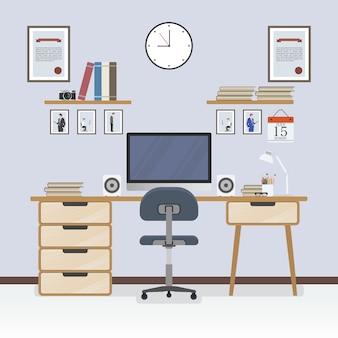 Diseño de fondo de espacio de trabajo