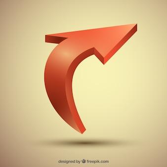 Diseño de fondo de flecha