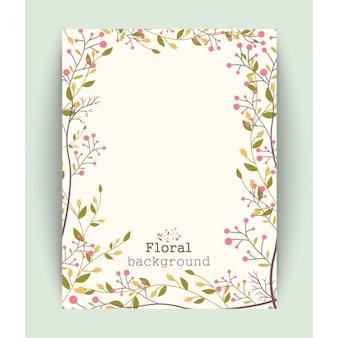 Diseño de fondo de flores