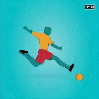 Diseño de fondo de fútbol