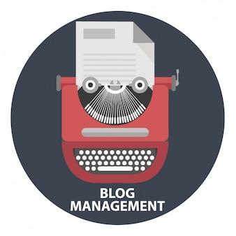 Diseño de fondo de gestión de blog