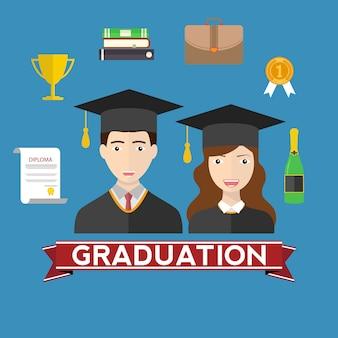 Diseño de fondo de graduación