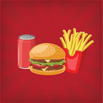 Diseño de fondo de hamburguesa