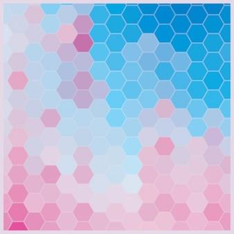 Diseño de fondo de hexágonos