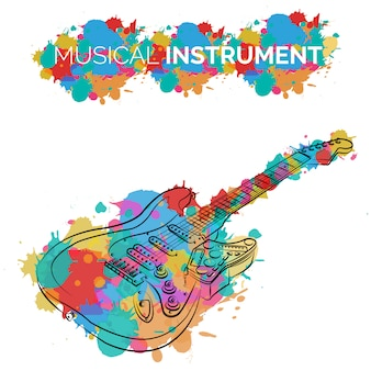 Diseño de fondo de instrumentos musicales