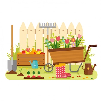 Diseño de fondo de jardín