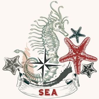 Diseño de fondo de mar