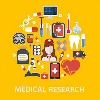 Diseño de fondo de medicina