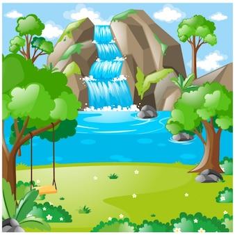 Diseño de fondo de naturaleza