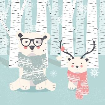 Diseño de fondo de oso polares