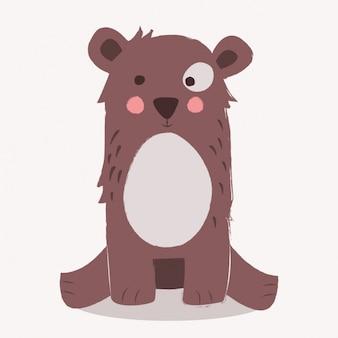 Diseño de fondo de oso