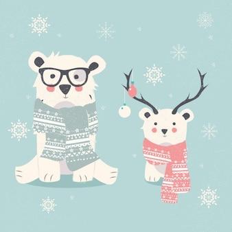 Diseño de fondo de osos polares