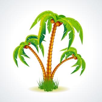 Diseño de fondo de palmera