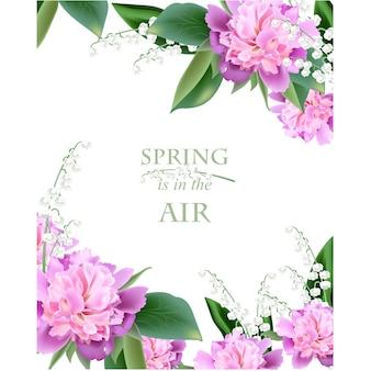 Diseño de fondo de primavera