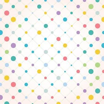 Diseño de fondo de puntos a color