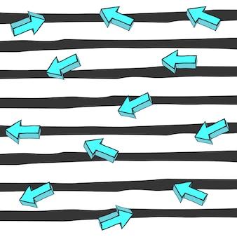 Diseño de fondo de rayas y flechas