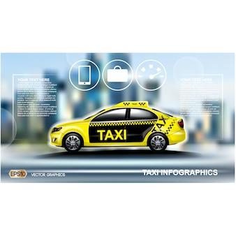 Diseño de fondo de taxi