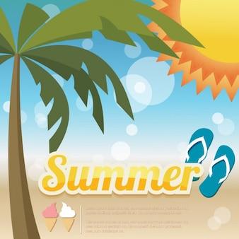 Diseño de fondo de verano colorido