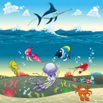 Diseño de fondo de vida marina