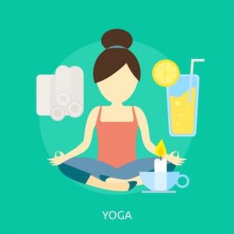 Diseño de fondo de yoga