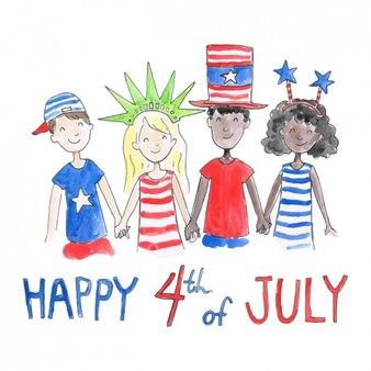 Diseño de fondo del día de la independencia