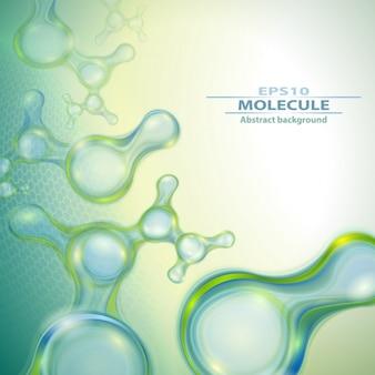 Diseño de fondo del día de moléculas