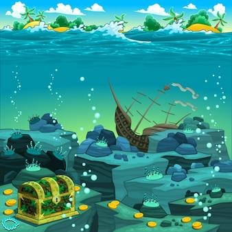 Diseño de fondo del mar